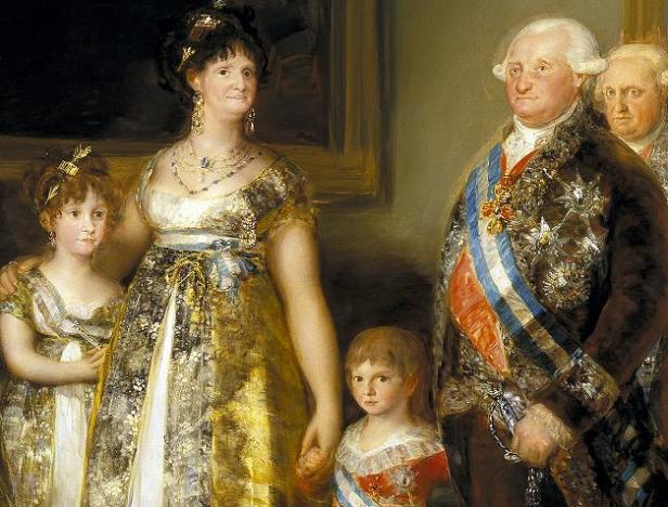 6retrato de la familia de Carlos IV, 1800-01Carlos Iv,Maria Luisa y slodos pequeños