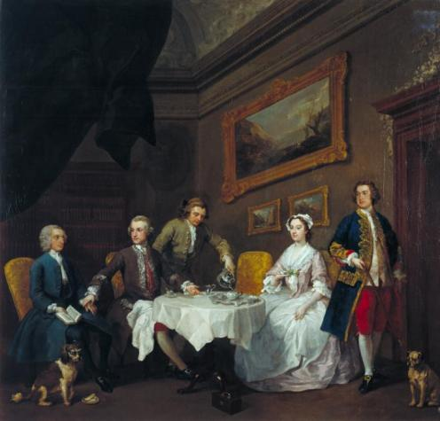 The Strode Family c.1738 by William Hogarth 1697-1764