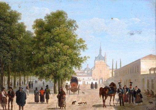 Vue du couvent des Récollets à Madrid