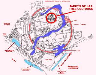 Plano Jardín Tres Culturas Parque JCI