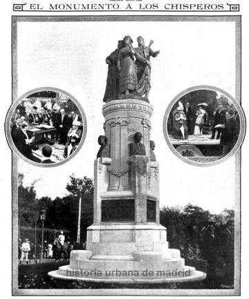 Inauguración del monumento. Fuente: Historia Urbana de Madrid
