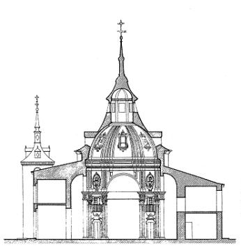 Alzado de la ermita. Fuente: Monumentamadrid