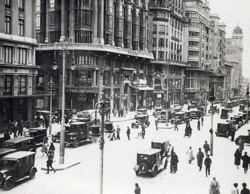Vista de la Gran Vía (1930). Foto: skyscrapercity.com
