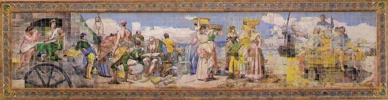Mural de la Escuela Superior de Ingenieros de Minas