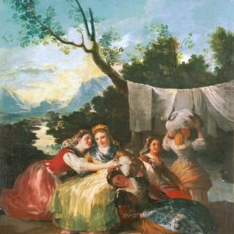 Las lavanderas, de Goya. Foto: Museo del Prado