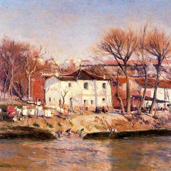 Lavaderos del Manzanares, de A. Beruete. Foto: Wikipedia