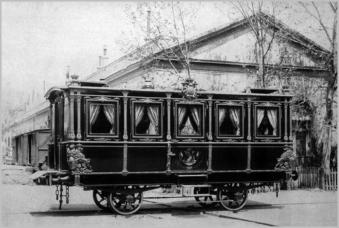 Coche del tren Real para Isabel II, 1864. Foto: madridsingular.blogspot.com