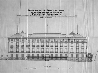 Alzado del Palacio. Fuente: COAM