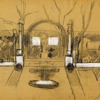 Diseño para el segundo Jardín. 1910. Museo Sorolla.