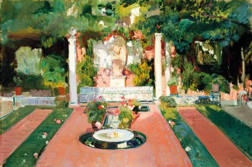 Jardín de la Casa Sorolla, ca. 1918 © Museo Sorolla